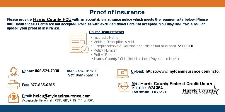 information on how to provide proof of insurance